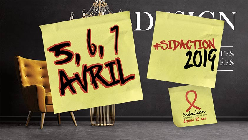 Sidaction les 5, 6, 7 avril 2019